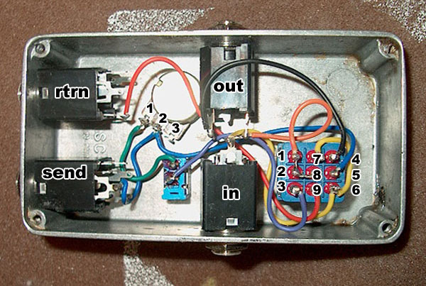 Homemade True Bypass  Feedback Looper Works Only When Loop