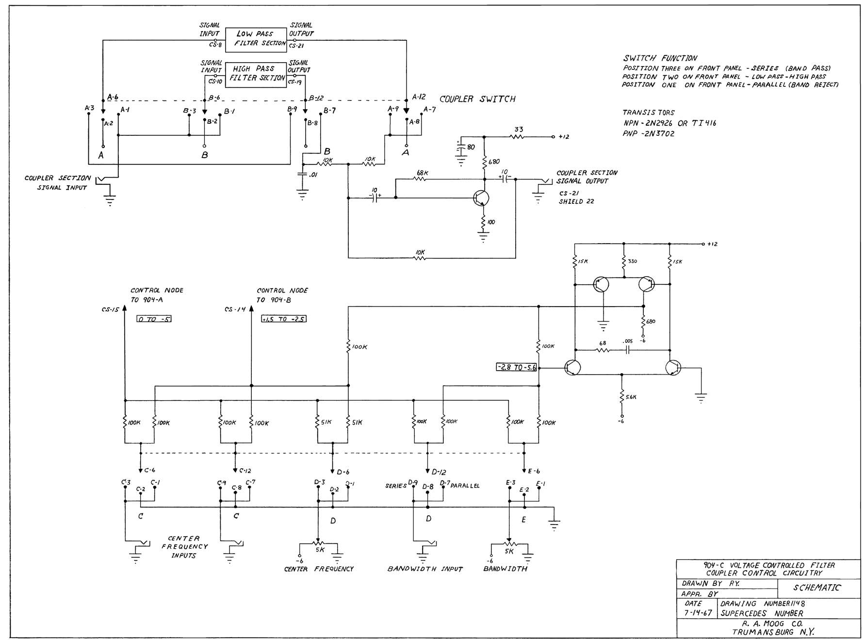 Index Of Diy Schematics Filters Wahs And Vcfs Moog Taurus 2 904c