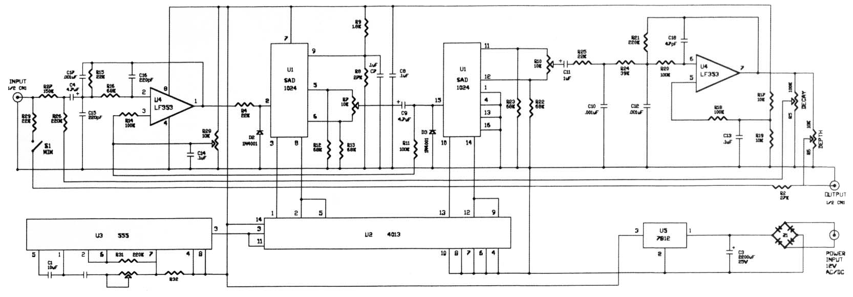Dan Electro Input Wiring Diagram 32 Images Danelectro Guitar Lupine Systems Sad1024 Delay Experimentalists Anonymous Diy Archives Jimmy Page At
