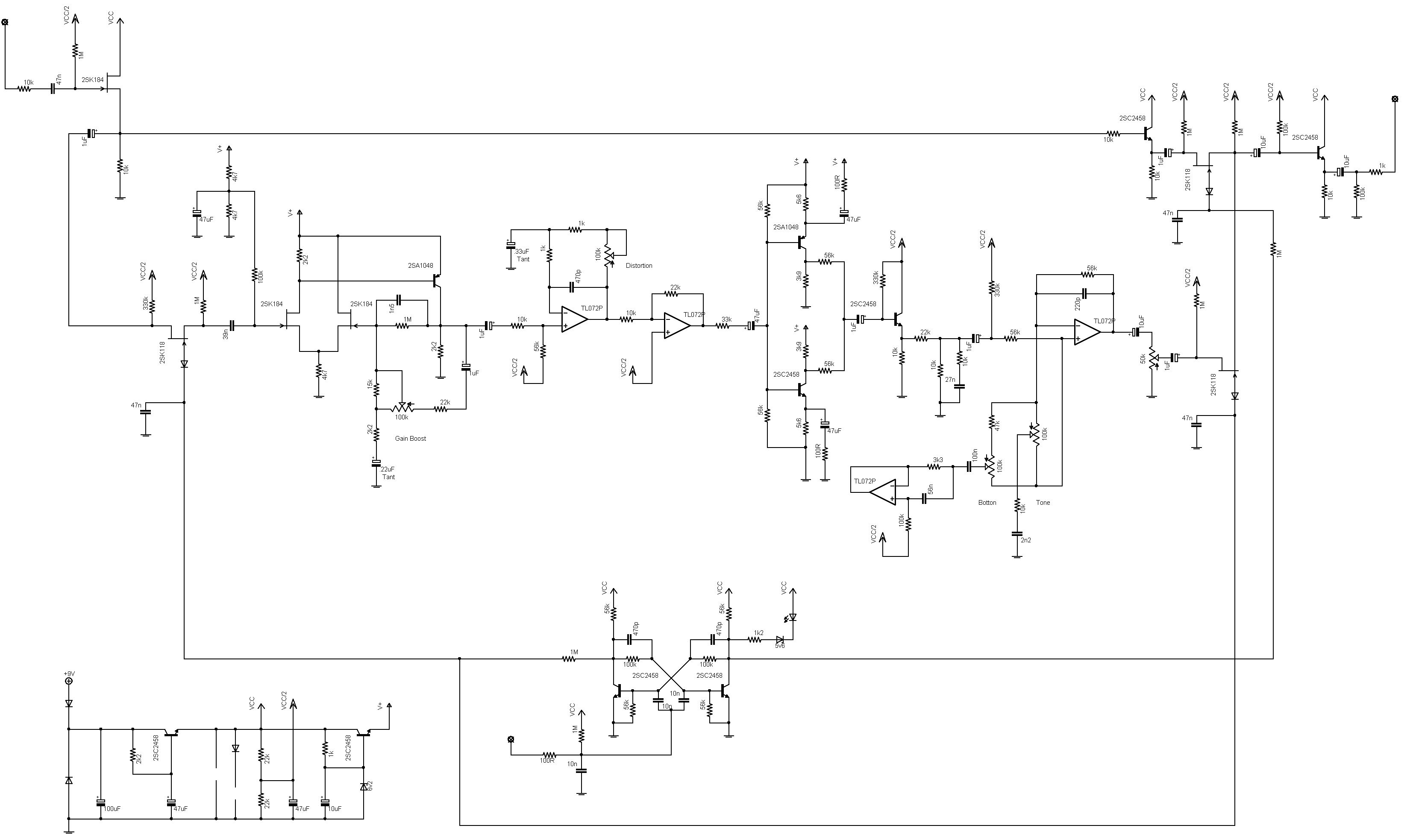 Boss Md on Diode Circuit Schematic