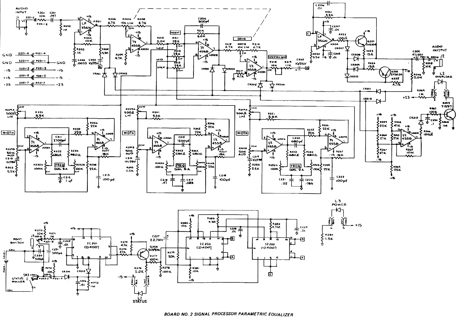 Experimentalists Anonymous Diy Archives Guitar Pedal Switch Wiring Diagrams Free Engine Image For Moog Parametric Eq